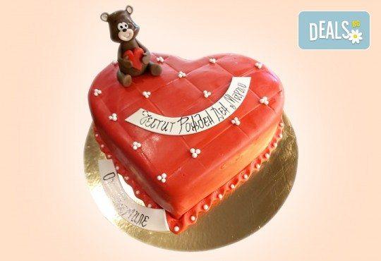 AMORE! Подарете Торта Сърце по дизайн на Сладкарница Джорджо Джани - Снимка 3