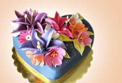 AMORE! Подарете Торта Сърце по дизайн на Сладкарница Джорджо Джани - Снимка