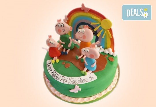 Детска АРТ торта с герои от филмчета от Сладкарница Джорджо Джани