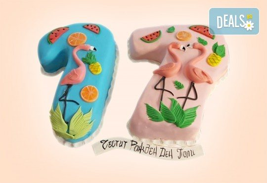 С цифри! Изкушаващо вкусна бутикова АРТ торта с цифри и размер по избор от Сладкарница Джорджо Джани - Снимка 5