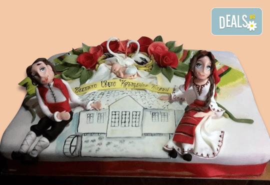 Голяма 3D Торта на традициите за почитателите на българския фолклор, 25 парчета от Сладкарница Джорджо Джани - Снимка 13