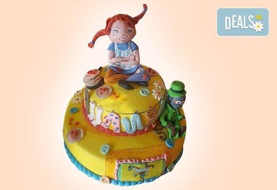 Смърфове, Миньони & Brawl stars! Голяма детска 3D торта 37 ПАРЧЕТА с фигурална ръчно изработена декорация от Сладкарница Джорджо Джани - Снимка 6