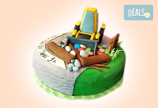 За момчета! Детска 3D торта за момчета с коли и герои от филмчета с ръчно моделирана декорация от Сладкарница Джорджо Джани - Снимка 61