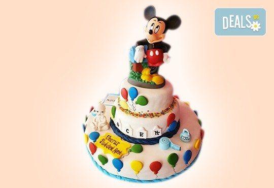 За момчета! Детска 3D торта за момчета с коли и герои от филмчета с ръчно моделирана декорация от Сладкарница Джорджо Джани - Снимка 83