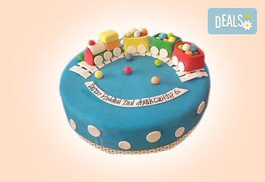 За момчета! Детска 3D торта за момчета с коли и герои от филмчета с ръчно моделирана декорация от Сладкарница Джорджо Джани - Снимка 76