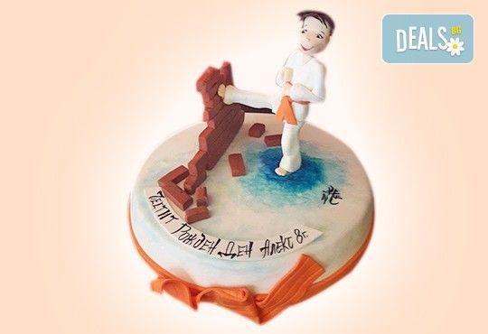 За момчета! Детска 3D торта за момчета с коли и герои от филмчета с ръчно моделирана декорация от Сладкарница Джорджо Джани - Снимка 74