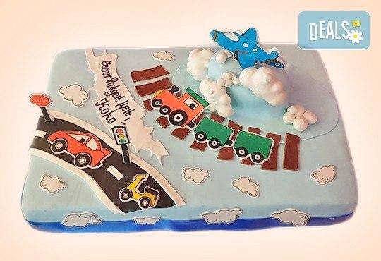 За момчета! Детска 3D торта за момчета с коли и герои от филмчета с ръчно моделирана декорация от Сладкарница Джорджо Джани - Снимка 45