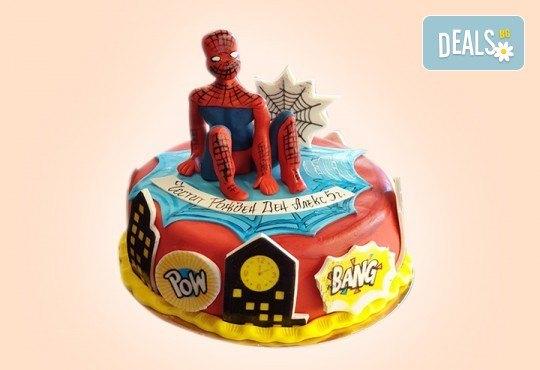 За момчета! Детска 3D торта за момчета с коли и герои от филмчета с ръчно моделирана декорация от Сладкарница Джорджо Джани - Снимка 15