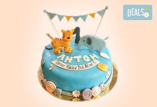 За момчета! Детска 3D торта за момчета с коли и герои от филмчета с ръчно моделирана декорация от Сладкарница Джорджо Джани - Снимка 84