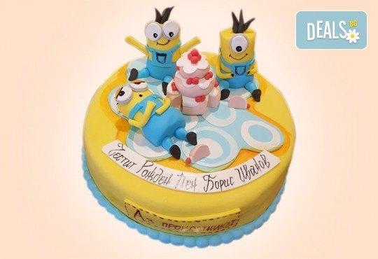 За момчета! Детска 3D торта за момчета с коли и герои от филмчета с ръчно моделирана декорация от Сладкарница Джорджо Джани - Снимка 80