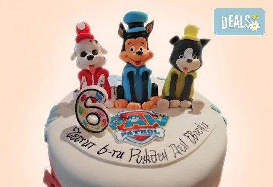 За момчета! Детска 3D торта за момчета с коли и герои от филмчета с ръчно моделирана декорация от Сладкарница Джорджо Джани - Снимка 27