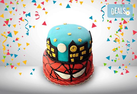 За момчета! Детска 3D торта за момчета с коли и герои от филмчета с ръчно моделирана декорация от Сладкарница Джорджо Джани - Снимка 88