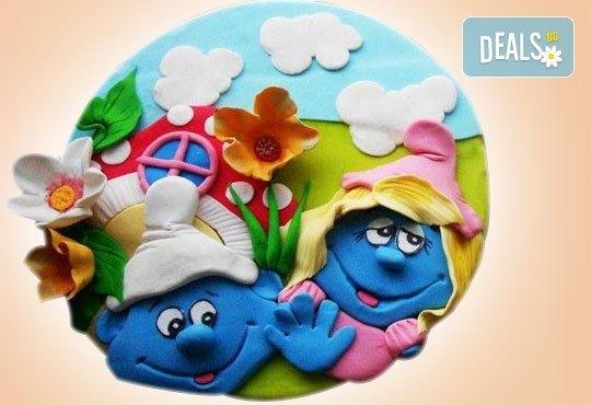 За най-малките! Детска торта с Мечо Пух, Смърфовете, Спондж Боб и други герои от Сладкарница Джорджо Джани - Снимка 54