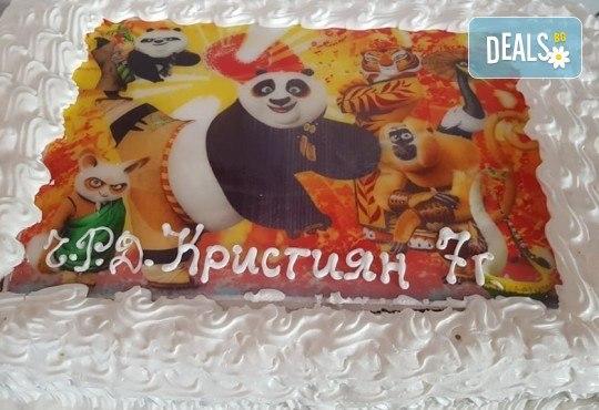 За момче! Торти за момчета: вземете голяма торта 20/ 25/ 30 парчета със снимка на герои от любимите детски филмчета - Нинджаго, Костенурките Нинджа, Спайдърмен и други от Сладкарница Джорджо Джани - Снимка 61