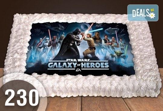 За момче! Торти за момчета: вземете голяма торта 20/ 25/ 30 парчета със снимка на герои от любимите детски филмчета - Нинджаго, Костенурките Нинджа, Спайдърмен и други от Сладкарница Джорджо Джани - Снимка 63