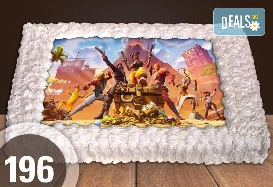 За момче! Торти за момчета: вземете голяма торта 20/ 25/ 30 парчета със снимка на герои от любимите детски филмчета - Нинджаго, Костенурките Нинджа, Спайдърмен и други от Сладкарница Джорджо Джани - Снимка 25