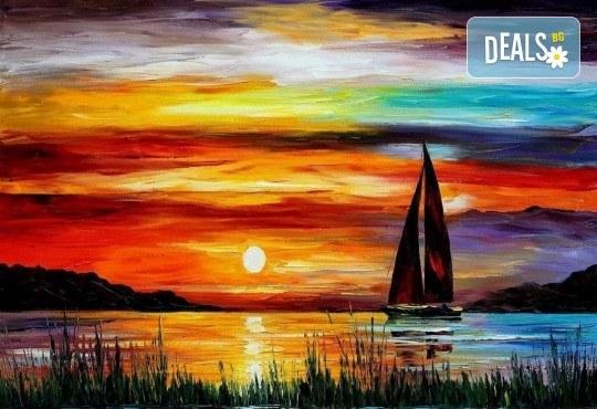 Незабравимо 3-часово творческо преживяване! Студио за рисуване и вино Art and Wine. На 17 септември от 18:30ч - на тема На лодката - Снимка 9