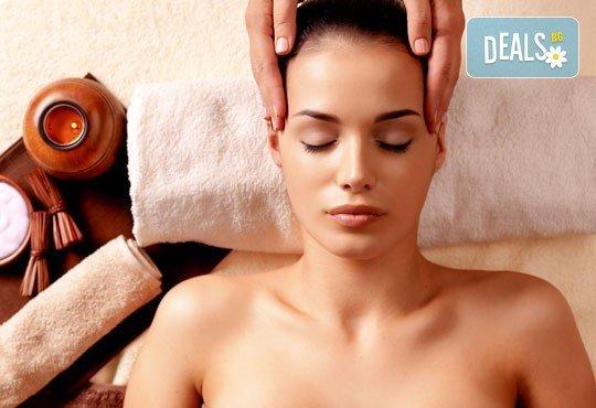 60-минутен класически, спортен или релаксиращ масаж на цяло тяло + бонус: масаж на лице - 1 или 5 процедури в салон за красота Слънчев ден - Снимка 1