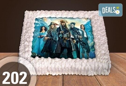 Голяма детска торта 20, 25 или 30 парчета със снимка на любим герой от Сладкарница Джорджо Джани - Снимка 106