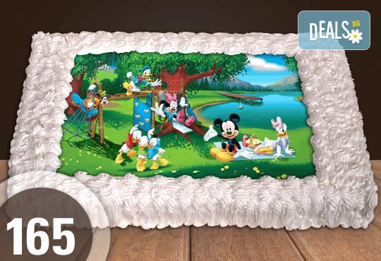 Голяма детска торта 20, 25 или 30 парчета със снимка на любим герой от Сладкарница Джорджо Джани - Снимка 60