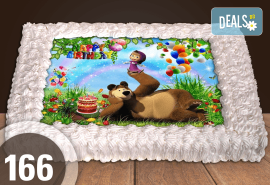 Голяма детска торта 20, 25 или 30 парчета със снимка на любим герой от Сладкарница Джорджо Джани - Снимка 72