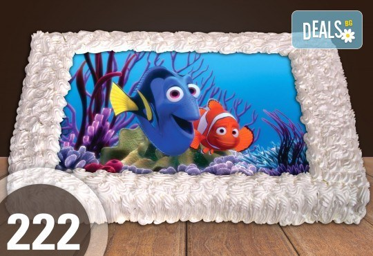 Голяма детска торта 20, 25 или 30 парчета със снимка на любим герой от Сладкарница Джорджо Джани - Снимка 119