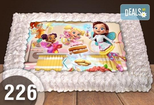 Голяма детска торта 20, 25 или 30 парчета със снимка на любим герой от Сладкарница Джорджо Джани - Снимка 25