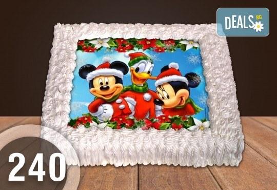 Голяма детска торта 20, 25 или 30 парчета със снимка на любим герой от Сладкарница Джорджо Джани - Снимка 131