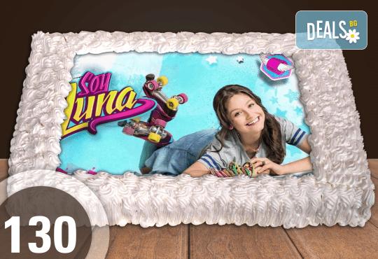 Голяма детска торта 20, 25 или 30 парчета със снимка на любим герой от Сладкарница Джорджо Джани - Снимка 44