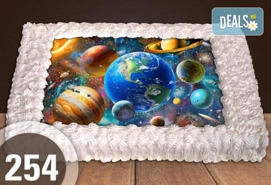 Голяма детска торта 20, 25 или 30 парчета със снимка на любим герой от Сладкарница Джорджо Джани - Снимка 1