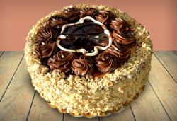 Шоколад и филирани ядки! Шоколадова торта Кралска от майстор-сладкарите на Сладкарница Джорджо Джани - Снимка