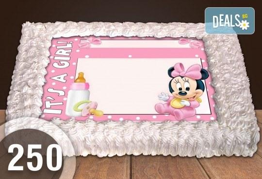 За най-малките! Голяма торта със снимка 20, 25 или 30 парчета за празника на Вашето дете с герой от филмче от Сладкарница Джорджо Джани - Снимка 50