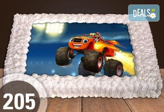 За най-малките! Голяма торта със снимка 20, 25 или 30 парчета за празника на Вашето дете с герой от филмче от Сладкарница Джорджо Джани - Снимка 40