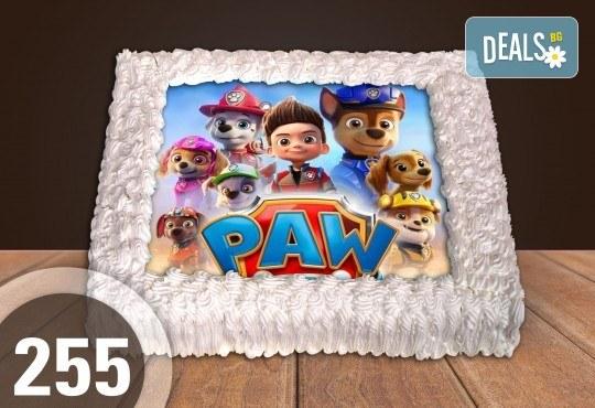 За най-малките! Голяма торта със снимка 20, 25 или 30 парчета за празника на Вашето дете с герой от филмче от Сладкарница Джорджо Джани - Снимка 1