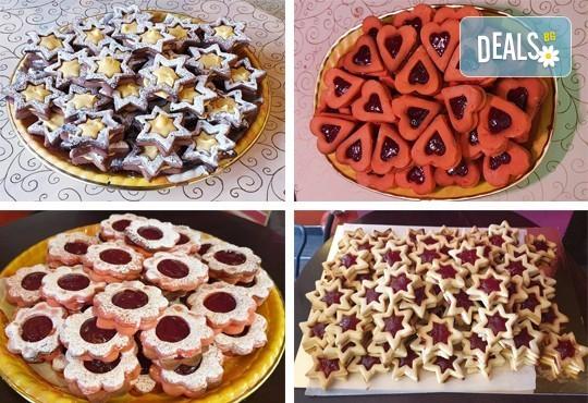 Сладки на килограм! 1 кг. домашни гръцки сладки: седем различни вкуса сладки с шоколад, макадамия и кокос, майсторска изработка от Сладкарница Джорджо Джани - Снимка 1