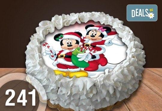 Детска торта с 12 парчета с крем и какаови блатове + детска снимка или снимка на клиента, от Сладкарница Джорджо Джани - Снимка 52
