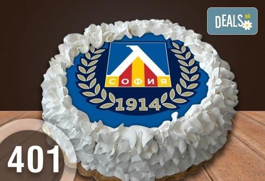 Детска торта с 12 парчета с крем и какаови блатове + детска снимка или снимка на клиента, от Сладкарница Джорджо Джани - Снимка 46