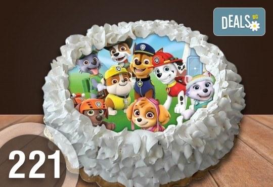 Детска торта с 12 парчета с крем и какаови блатове + детска снимка или снимка на клиента, от Сладкарница Джорджо Джани - Снимка 2