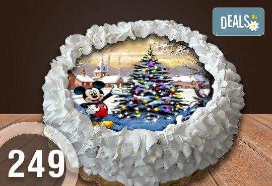 Детска торта с 12 парчета с крем и какаови блатове + детска снимка или снимка на клиента, от Сладкарница Джорджо Джани - Снимка 55