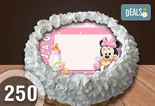 Детска торта с 12 парчета с крем и какаови блатове + детска снимка или снимка на клиента, от Сладкарница Джорджо Джани - Снимка 50