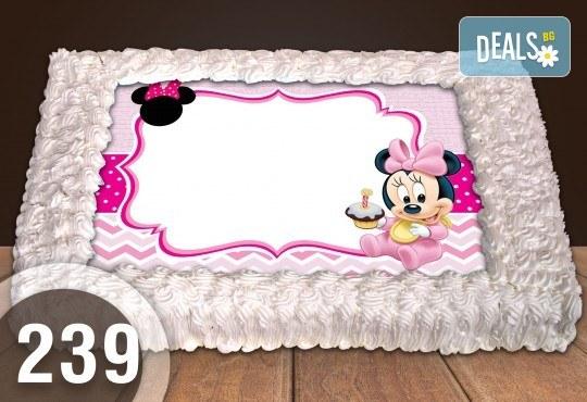 Експресна торта от днес за днес! Голяма детска торта 20, 25 или 30 парчета със снимка на любим герой от Сладкарница Джорджо Джани - Снимка 132