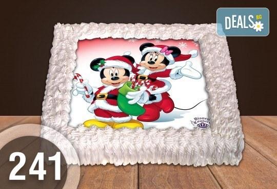 Експресна торта от днес за днес! Голяма детска торта 20, 25 или 30 парчета със снимка на любим герой от Сладкарница Джорджо Джани - Снимка 125