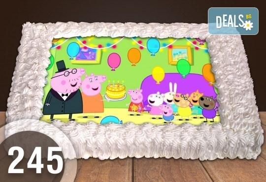 Експресна торта от днес за днес! Голяма детска торта 20, 25 или 30 парчета със снимка на любим герой от Сладкарница Джорджо Джани - Снимка 130