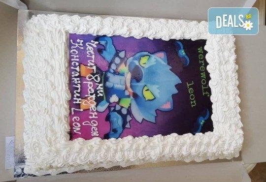 Експресна торта от днес за днес! Голяма детска торта 20, 25 или 30 парчета със снимка на любим герой от Сладкарница Джорджо Джани - Снимка 124