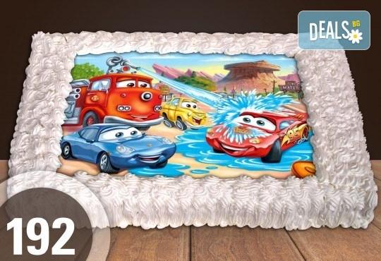 Експресна торта от днес за днес! Голяма детска торта 20, 25 или 30 парчета със снимка на любим герой от Сладкарница Джорджо Джани - Снимка 96
