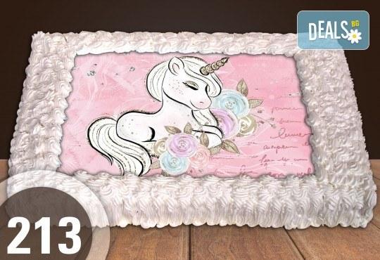Експресна торта от днес за днес! Голяма детска торта 20, 25 или 30 парчета със снимка на любим герой от Сладкарница Джорджо Джани - Снимка 116