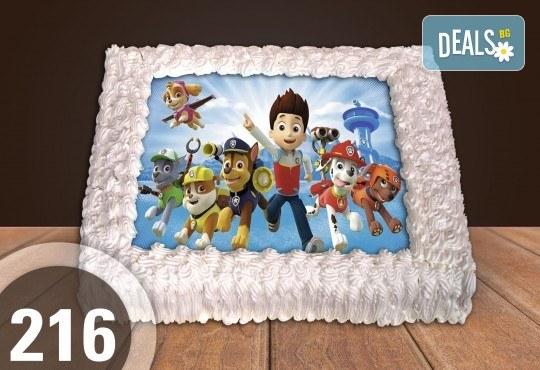 Експресна торта от днес за днес! Голяма детска торта 20, 25 или 30 парчета със снимка на любим герой от Сладкарница Джорджо Джани - Снимка 118