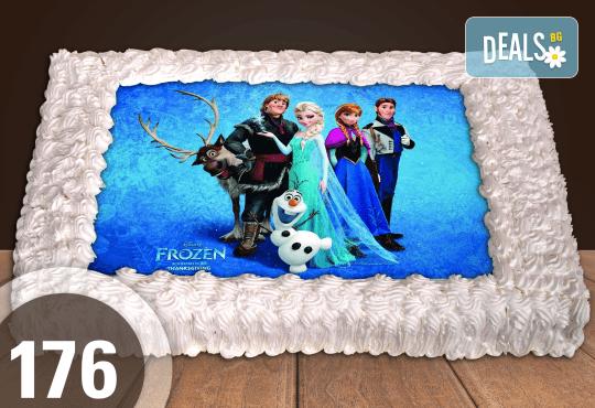 Експресна торта от днес за днес! Голяма детска торта 20, 25 или 30 парчета със снимка на любим герой от Сладкарница Джорджо Джани - Снимка 82