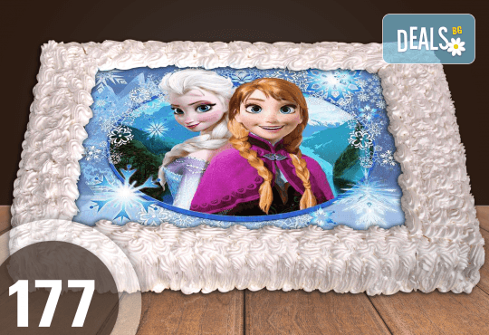 Експресна торта от днес за днес! Голяма детска торта 20, 25 или 30 парчета със снимка на любим герой от Сладкарница Джорджо Джани - Снимка 83
