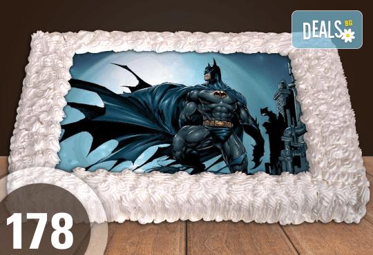 Експресна торта от днес за днес! Голяма детска торта 20, 25 или 30 парчета със снимка на любим герой от Сладкарница Джорджо Джани - Снимка 84